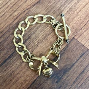 Juicy Couture Gold Bow Collectible Charm Bracelet